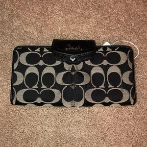 Coach black and gray wallet